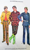 RETRO 70s Menswear Pattern McCALLS 3442 Shirt Jacket and Pants Wardrobe Robert Redford Epaulet Shoulders Shirt Lumber Jack Hunting Jacket Disco Suit Chest 42 Vintage Sewing Pattern UNCUT
