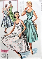 1950s EFFORTLESS Dress with Circle Skirt McCall's 3889 Bust 34 Vintage Sewing Patterns