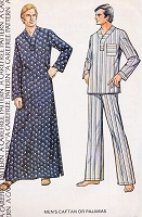 RETRO 70s Stylish Mens Caftan or Pajamas Pattern McCALLS 4237 Chest 34-36 Vintage Sewing pattern UNCUT