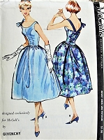 1950s RARE Givenchy Cocktail Party Evening Dress and Petticoat Pattern McCalls 4444 Stunning Design Bust 32 Vintage Sewing Pattern FACTORY FOLDED