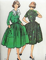1950s PRETTY Dress with Pockets, Peter Pan Collar, Bow and Petticoat McCall's 4766 Bust 34 Vintage Sewing Pattern