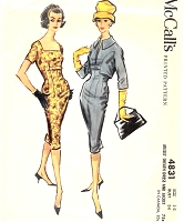 1950s Sheath Dress and Above Waistline Jacket Pattern McCALLS 4831Stunning Design Day or Cocktail Party Bust 34 Vintage Sewing Pattern UNCUT