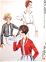 1960s CLASSY Jackets Pattern McCALLS 5790 Short Jackets Three Styles Mad Men Era Bust 32 Vintage Sewing Pattern