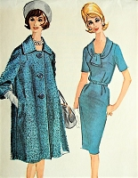 1960s LOVELY Dress and Coat McCall's 6012 Vintage Sewing Pattern Bust 37