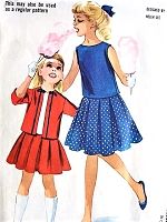1960s HELEN LEE Girls Two Pc Suit and Overblouse Pattern McCALLS 6136 CUTE Style Size 10 Vintage Childrens Sewing Pattern