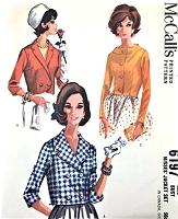 1960s STYLISH Short Jackets Pattern McCALLS 6197 Three Beautiful Versions Daytime or Evening Bust 36 Vintage Sewing Pattern UNCUT
