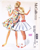 1960s BEAUTIFUL Little Girls Dress, Attached Petticoat Easy To Sew Pattern McCALLS 6384 Size 7 Vintage Sewing Pattern