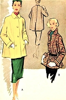 1950s LOVELY Topper Jacket Car Coat Pattern McCALLS 8646 Classy Design Bust 32 Vintage Sewing Pattern UNCUT