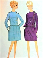 1960s MOD Suit Pattern McCALLS 9067 Eye Catching Side Closing Jacket  Bust 32 Vintage Sewing Pattern FACTORY FOLDED