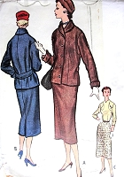 1950s CHIC Slim Dress and Jacket Pattern McCALLS 9180 Classy Casual Bust 32 Vintage Sewing Pattern FACTORY FOLDED