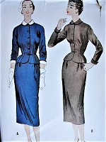 1950s CLASSY Two Piece Suit McCall's 9856 Bust 32 Vintage Sewing Pattern