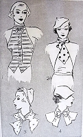 1930s FAB  Art Deco Gilets and Collars Pattern PICTORIAL 6968 Four Styles Daytime or Evening Bust 34 Vintage Sewing Pattern FACTORY FOLDED