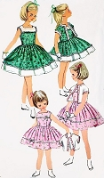 1950s SWEET Little Girls Toddler Party and Bolero Jacket Dress Pattern SIMPLICITY 1978 Size 4 Vintage Sewing Pattern
