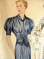 1930s CHIC Dress Simplicity 2304 Vintage Sewing Pattern Bust 38