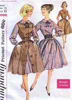 1960s CUTE Dress and Jumper Layered Look Pattern SIMPLICITY 3576 Simple To Make Rockabilly Style Day Dress Bust 35 Vintage Sewing Pattern UNCUT