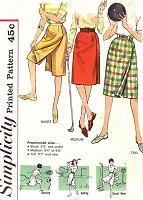 1960s SPORTS Skirts Pattern SIMPLICITY 3922 Golfing Bowling Riding Skirts Proportioned Sizes Waist 25 Vintage Sewing Pattern UNCUT