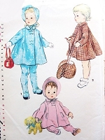 1950s ADORABLE Toddlers Coat Leggings and Hat Pattern SIMPLICITY 4829 Size 3 Vintage Sewing Pattern