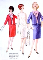 1960s Edith Head CLASSIC Tippi Hedren Suit Pattern SIMPLICITY 5577 Three Pc Slim Skirt Suit Bust 32 Vintage Sewing Pattern UNCUT