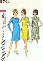 1960s MOD A Line Dress or Jumper Dress Pattern SIMPLICITY 5741 Three Cute Styles Bust 30 Vintage Sewing pattern UNCUT