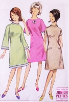 MOD 60s Bell Sleeve Dress Pattern SIMPLICITY 6751 Bust 33.5 Vintage Sewing Pattern UNCUT