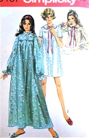 1960s CUTE  Nightgown and Bedjacket Lingerie Pattern SIMPLICITY 8457 Bust 42-44 Vintage Sewing Pattern