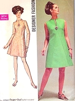 MOD 60s A Line Dress Day or Party Cocktail Evening Pattern SIMPLICITY 8537 Bust 38 Vintage Sewing Pattern UNCUT