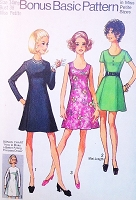 CUTE 70s A Line Flared Princess Seam Dress Pattern SIMPLICITY 8887  Three Style Versions Easy To Sew Bust 38 Vintage Sewing Pattern UNCUT