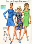 1970s CLASSIC Basic Dress Pattern SIMPLICITY 8868 Three Style Versions Bust 38 Vintage Sewing Pattern UNCUT