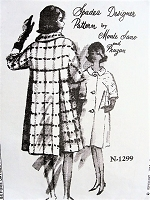 1960s ELEGANT Coat Pattern Monte Sano and Pruzan Design SPADEA 1299 Classy Fluid Back Fullness Day or Evening Coat Bust 38 Vintage Sewing Pattern FACTORY FOLDED