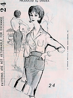 CLASSY 1960s Duchess of Windsor Slim Skirt and Shirt Pattern SPADEA 24  Easy Elegance Bust 38 Vintage Sewing Pattern  FACTORY FOLDED