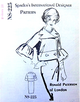 1960s GORGEOUS Ronald Paterson of London SUIT Pattern SPADEA 225 Interesting Sleeves Day into Evening Cocktail Party Suit Bust 35 Vintage Sewing Pattern