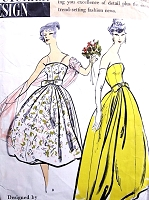 1950s GLAMOROUS Simonetta of Italy Evening Gown Pattern VOGUE Couturier Design 108 Strapless Dress, Stole and Petticoat for  Wedding, Gala Events Bust 34 Vintage Sewing Pattern