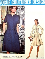 1970s STYLISH  Sybil Connolly Mock Wrap Dress Pattern VOGUE Couturier Design 1121 Cocktails or Daytime Bust 38 Vintage Sewing Pattern FACTORY FOLDED