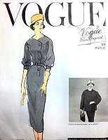 1950s STUNNING Patou Slim Dress and Coat Pattern VOGUE PARIS Original 1364 Day or Cocktail Party Sleekness Bust 32 Vintage Sewing Pattern FACTORY FOLDED