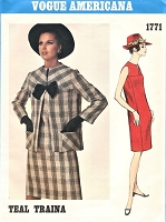 1960s MOD Slim Dress and Jacket Pattern VOGUE AMERICANA 1771 Easy Elegance Daytime or Evening Bust 38 Vintage Sewing Pattern FACTORY FOLDED