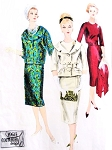 1950s CHIC Slim Dress and Jacket Pattern VOGUE COUTURIER Design 184 Two Jacket Styles Perfect Day or Evening  Bust 34 Vintage Sewing Pattern