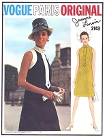 1960s FAB Lanvin Mod Dress Pattern VOGUE PARIS Original 2143 Day or After 5 Bust 36 Vintage Sewing Pattern