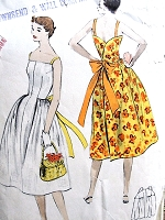 CUTE 1950s WRAP Around Dress Pattern VOGUE 3607 One Pc Wrapped Back Dress VERY Easy Walk Away Dress Bust 33 Vintage Sewing Pattern