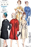 1960s ELEGANT Coat pattern VOGUE Special Design 4289 Easy To Make Coats in 3 Styles Bust 34 Vintage Sewing Pattern