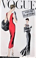 1950s AMAZING Evening Gown Cocktail Party Sheath Dress Pattern VOGUE Special Design 4729 Easy To Make  Bust 34 Vintage Sewing Pattern FACTORY FOLDED