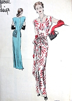 1940s DRAMATIC Film Noir Style Evening Dress Pattern VOGUE SPECIAL DESIGN 4785 Stunning Design Bust 36 Vintage Sewing Pattern