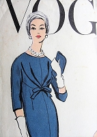 1950s ELEGANT Chemise Dress Vogue Special Design 4865 Vintage Sewing Pattern Bust 31
