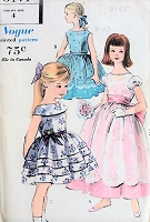 1960s BEAUTIFUL Little Girls Party Wedding Flower Girl Dress and Slip Pattern VOGUE 5171 Three Lovely Styles Childrens Size 4 Vintage Sewing Pattern FACTORY FOLDED