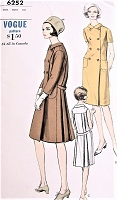 1940s BEAUTIFUL HouseCoat Robe Hostess Gown Pattern VOGUE 6252 Lovely Brunch Coat Lounging Robe Bust 32 Vintage Sewing Pattern