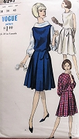 1960s CHIC Vintage Jumper, Dress, and Blouse Vogue 6293 Bust 38 Sewing Pattern