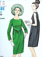 1960s MOD Dress Pattern VOGUE Young Fashionables Perfect Little Black Dress Day or Evening Bust 32 Vintage Sewing Pattern UNCUT