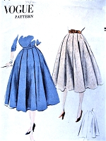 1950s FLATTERING Box PleatedSkirt Pattern VOGUE 7506 Waist 26 Vintage Sewing Pattern FACTORY FOLDED