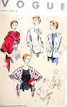 1950s ELEGANT Easy To Sew STOLES Pattern VOGUE 8224 Two Fabulous Evening or Daytime Styles Size Medium Vintage Sewing Pattern