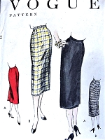 1950s WRAP AROUND Slim Skirt VOGUE 8697 Easy Elegance Waist 24 Vintage Sewing Pattern Factory Folded