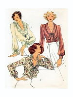 1970s LOVELY Blouse Pattern VOGUE 9021 Day or Evening 3 Styles Bust 34 Vintage Sewing Pattern FACTORY FOLDED